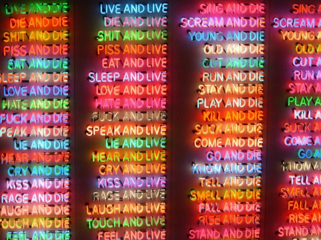 ONE HUNDRED LIVE AND DIE_BRUCE NAUMAN