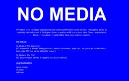 NO MEDIA 05.11 @ 8PM dfb gallery