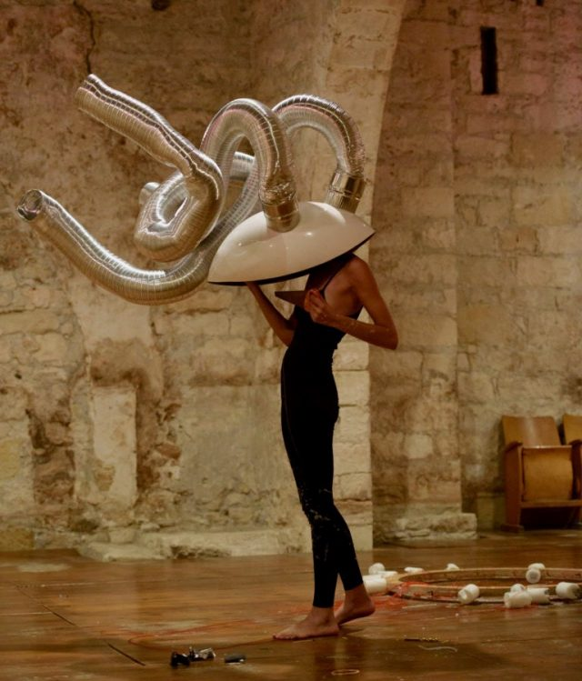 Nicolina Stylianou | Planting the Sensorium series | collaboration with Marios Messios | Old Vinegar Factory | Photo by Pavlos Vrionides 2016