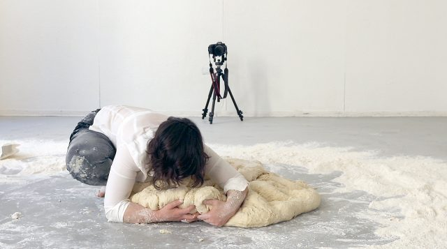 Santina Amato | Video Still from Untitled (Dough Project, Kneading) 2015